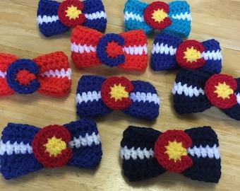 Original Colorado Flag Bow Barrette, Hair Clip, Colorado, Girls Hair Accessorie, Bows, Hair Bow