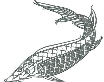 Arete de poisson etsy for Koi larousse