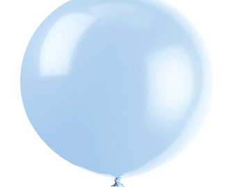 """36"""" Baby Blue Balloons, Giant Balloons, Photo props, Wedding Photo Props, Birthday Photo Props"""