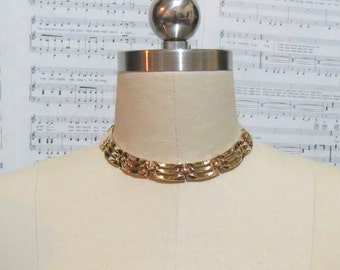 Clearance Sale! Fence Necklace - Cleopatra necklace - Chunky gold link - collar necklace - chunky necklace