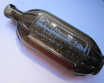 Antique Medicine Bottle : Prepared by Dr. Peter Fahrney & Sons Co. Chicago, Ill. USA