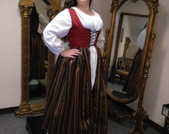 Irish Overdress, LARP, SCA, Renaissance Faire, Costume, Cosplay