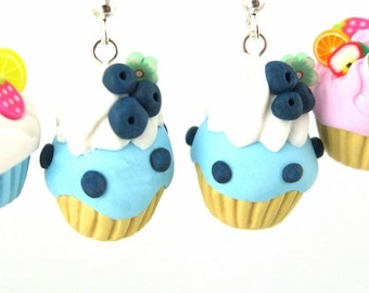 Blueberry Cupcake Earrings