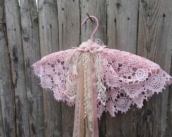 Wedding dress  hanger , decorative hanger , lace  hanger , wedding  accessories,  Vintage Hanger
