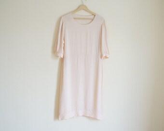 Vintage Light Pink Dress with Polka Dots