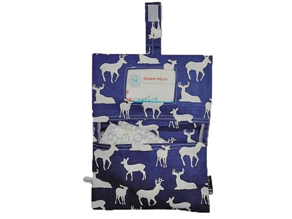 Diaper Clutch In Navy Deer Print By Rilos Mimi Ready To