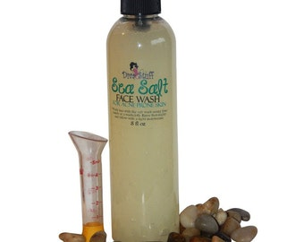 Diva Stuff Sea Salt Face Wash with Tamanu and Lime, for Oily and Acne Prone Skin