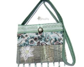 Turquoise Green Handbag, Purse