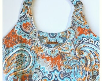 Hobo Bag, Shoulder Bag, Paisley Hobo Bag, Tote Bag