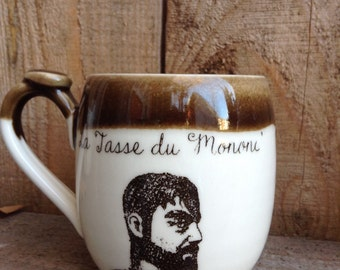 "The mug ""La tasse du Mononc' made of handtrowned porcelain clay"