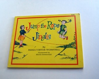 Vintage Children's Book, Jump the Rope Jingles