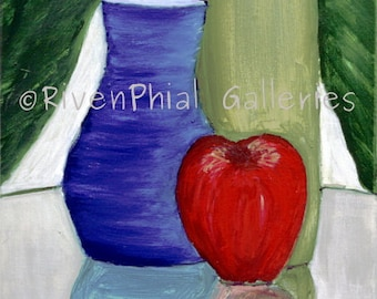 "Abstract Wall Art Giclee Print of Original Oil Painting ""Still Life No. 1"""