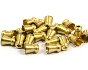 15 pcs. Raw Brass Industrial  8x6 mm Bead Caps Findings