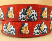 BTY Disney 1 Inch 101 Dalmatians Villain Cruella Grosgrain Ribbon Great for Hair Bows Lanyards Pacifier Clips Scrapbooking Lisa