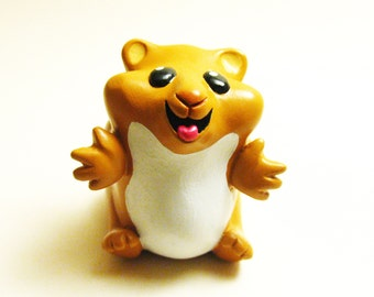 Hugster tiny hamster resin toy