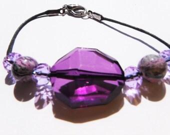 Purple bead bracelet