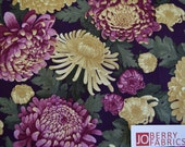 Large Floral, A Mum for Mum Collection by Jackie Robinson of Animas Quilts for Benartex, Quilt or Craft Fabric, Fabric by the Yard.