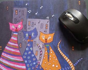 Kitty Kat Korus mouse pad