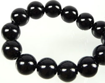 100 black Round Lampwork beads to choose from: 6 mm, 8 mm, 10 mm, 12 mm