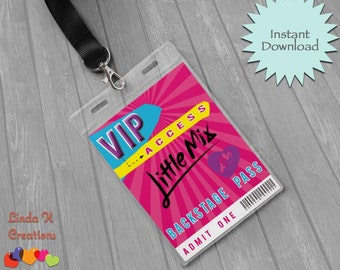 Little Mix VIP Backstage Guest Pass | INSTANT DOWNLOAD Ready to print File