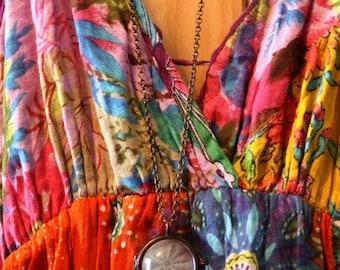 Enjoy 50% OFF Now Antique lace pendant, sand dollar necklace