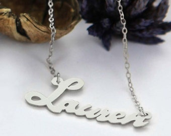 Personalized Script Silver Name Necklace - CT2003
