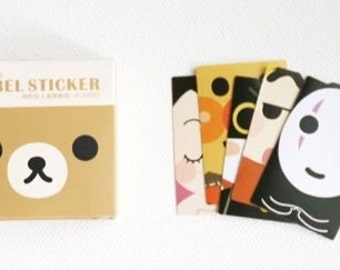 Lovely Cartoon Label  Stickers - Total 40 Stickers