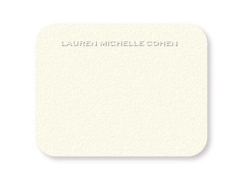 Personalized custom embossed stationery {set of 50}