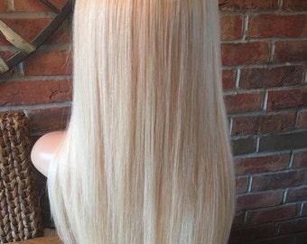 Stylish human hair bespoke wig 13years-Adult chemo, alopecia