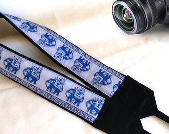Xmas Gift. Lucky Elephants Camera Strap. Christmas Gifts. Accessories