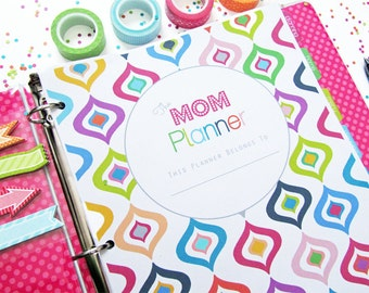 Home Management Binder, Printable Planner, The Mom Planner - INSTANT DOWNLOAD - Household Binder with Covers
