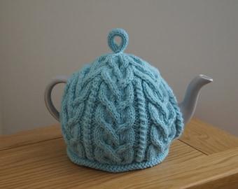 Knitted Tea Cozy Aqua Blue - NESTON