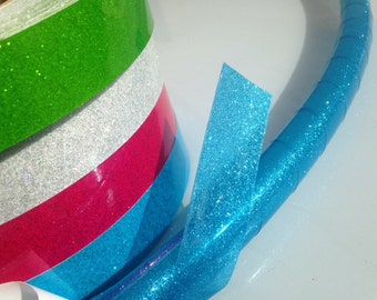 "1"" Transparent Glitter Tapes Hula Hoop Tape"