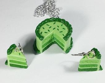 Miniature St. Patrick's Day Ombre Cake Jewelry Set