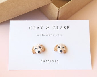 Custom Pet earrings - beautiful handmade polymer clay jewellery by Clay & Clasp