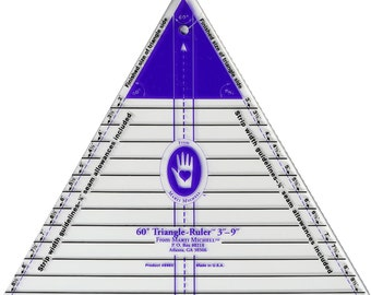 Ruler/Template - 60 Degree Triangle Ruler, Large by Marti Michell (MIM8963) Acrylic Template