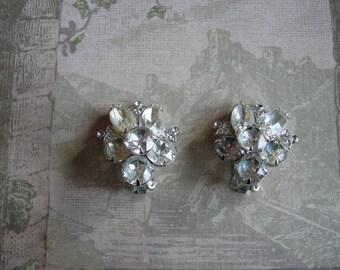 Vintage 1950s EISENBERG ICE Rhinestone Earrings