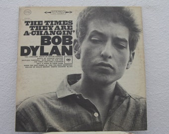 "Bob Dylan - ""The Times They Are A-Changin'"" vinyl record (NT)"