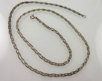 Silver Braided Chain 20''