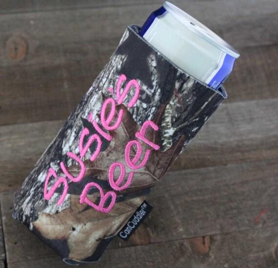 personalized camo beer can cuddler  u00ae u0026 free koozie  u00ae with