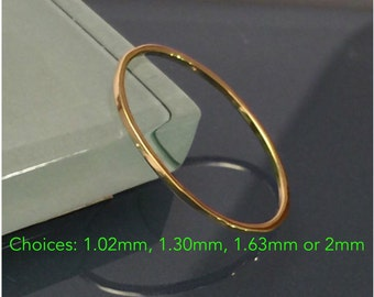 18K Gold Wedding Band/ 18k Wedding Band Ring