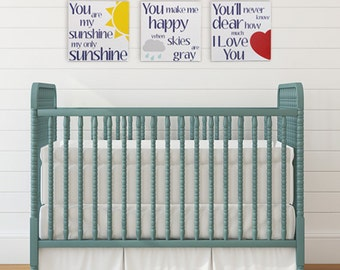 Nursery Wall Decor - You Are My Sunshine - Canvas Art Prints - Childrens Room Wall Art - Sunshine Rhyme