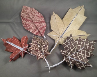 Origami Leaves - Set of 5