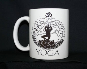 Yoga is balance Mug Tree Pose Om