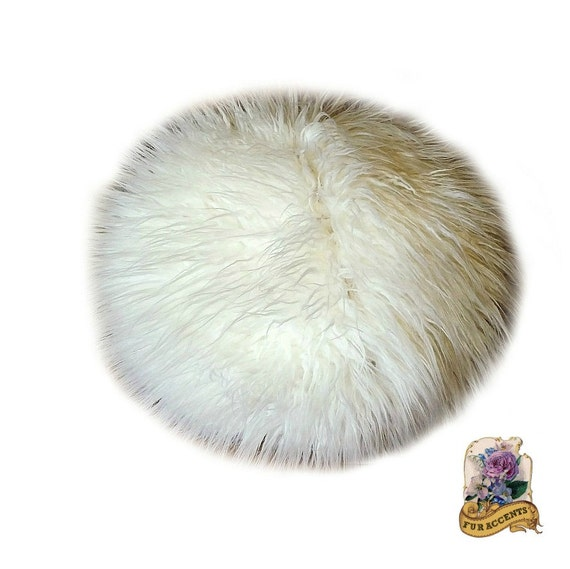 Premium Faux Fur / Shaggy Shag Mongolian Sheepskin Ball Pillow