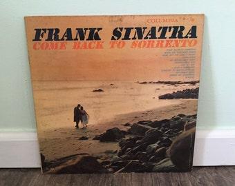 "Frank Sinatra ""Come Back to Sorrento"" vinyl record"