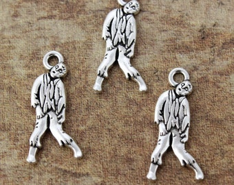 10 Zombie Charms Zombie Pendants Tibetan Antiqued Silver Tone charms 12 x 25 mm