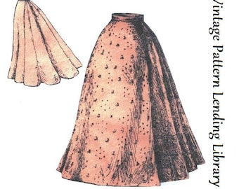 1897 Ladies Nine Gored Skirt  - Reproduction Sewing Pattern #E1141