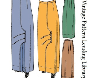 1912 Ladies Skirt With Front Pleated Panel - Reproduction Sewing Pattern #E5523