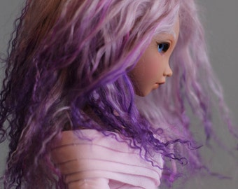 "BJD wig - Magical Purple - 7/8"" LIMITED STOCK"